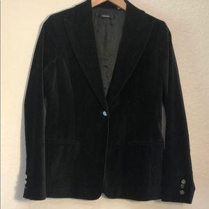 Tahari Black Velvet Blazer Single Button